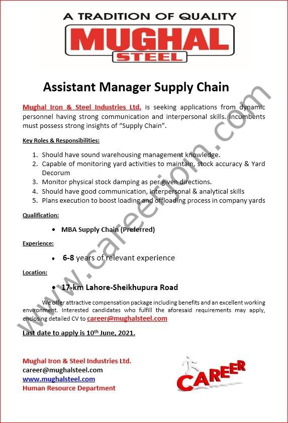 mughalsteel.com Jobs 2021 - Mughal Steel Jobs 2021 in Pakistan