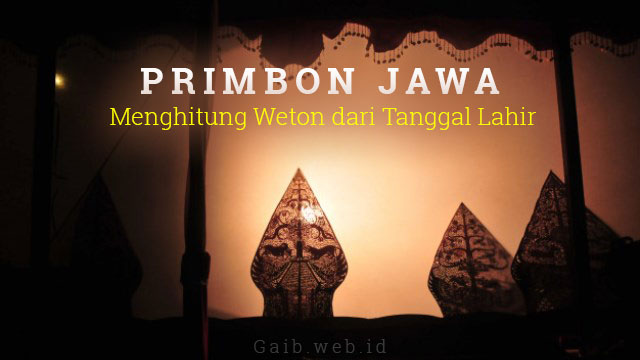 Primbon Weton Jawa