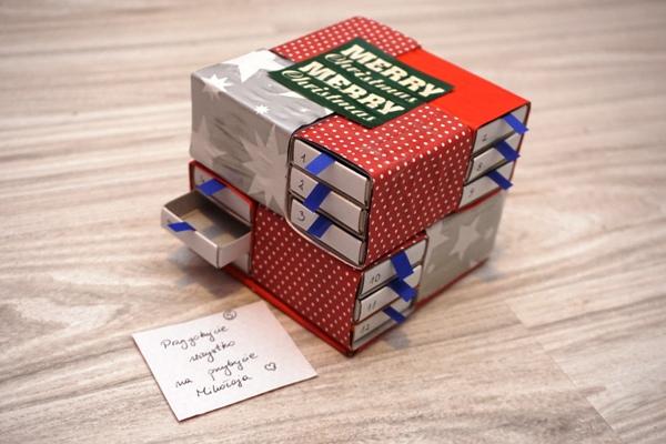kalendarz adwentowy z pudełek od zapałek - na ostatnią chwilę DiY