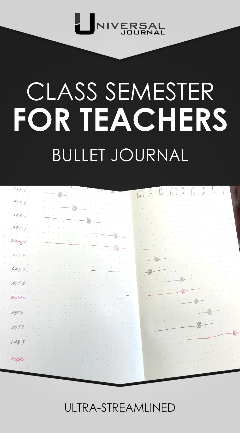 Class Semester for Teachers bullet journal