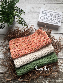 Handmade Cotton Dish Cloths for Fall