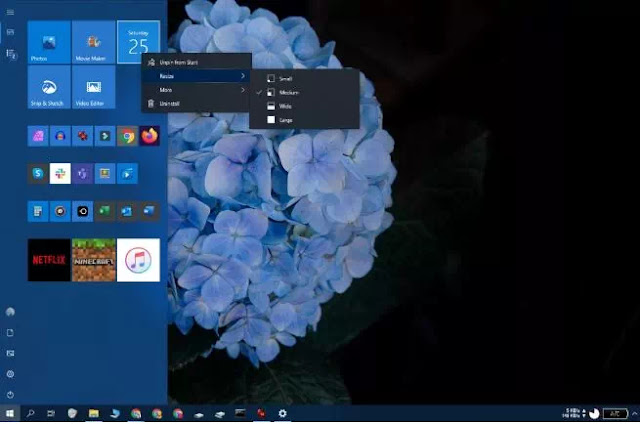 Cara Mengubah Tampilan Start Menu Windows 10-6