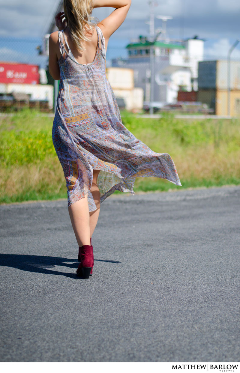 boho midi dress festival style ankle boots