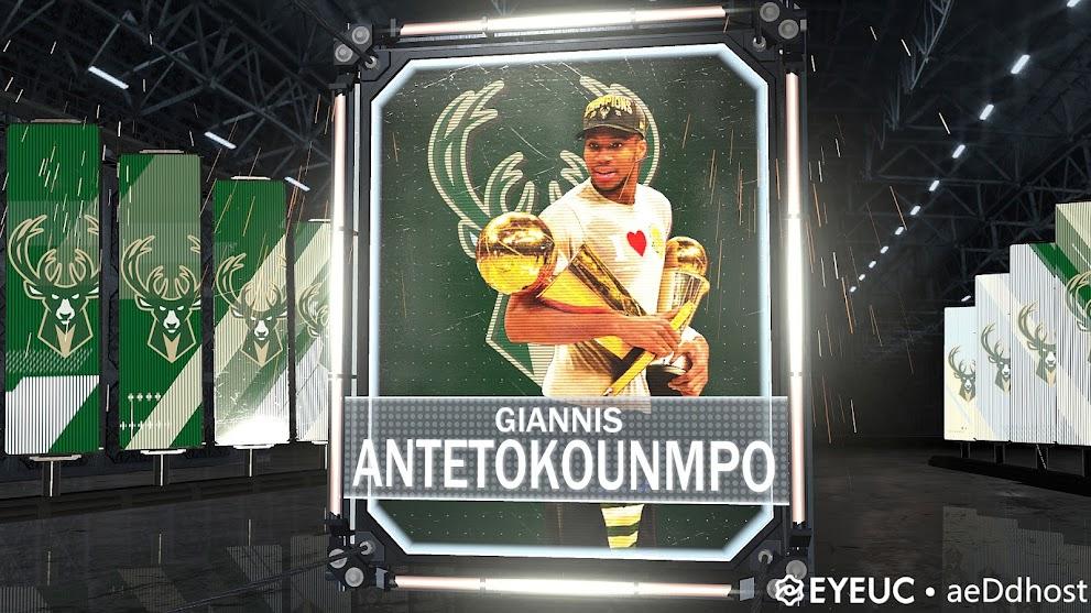 NBA 2K21 Giannis Antetokounmpo finals MVP Portrait by aeDdhost