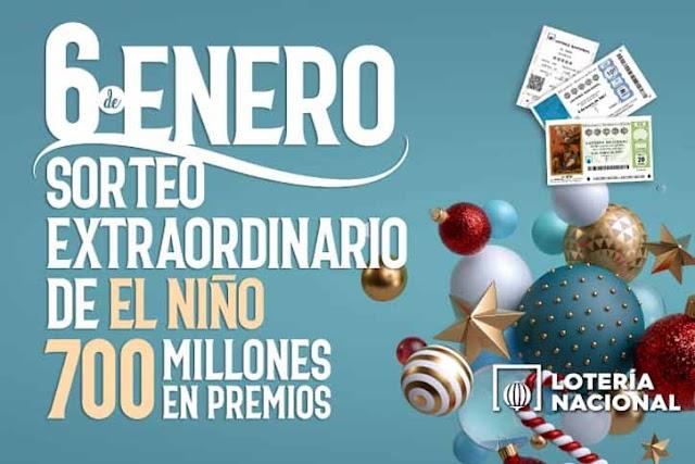 Lotería del Niño, 6 de enero de 2021 - Resultado y premios del sorteo extraordinario