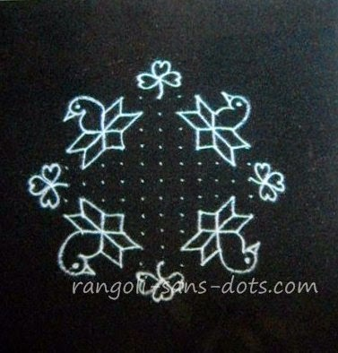 Pulli Kolam With Dots