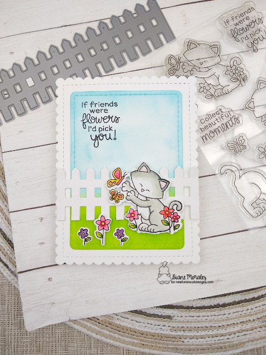 If friends were flowers, I'd pick you by Diane features Newton's Flower Garden, Frames & Flags, and Fence by Newton's Nook Designs; #newtonsnook