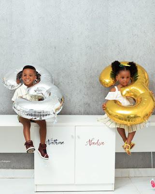 Paul Okoye And Wife Anita Celebrate Their Twins On Their Birthday