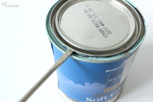 Use the screwdriver to pry the lid off the paint can