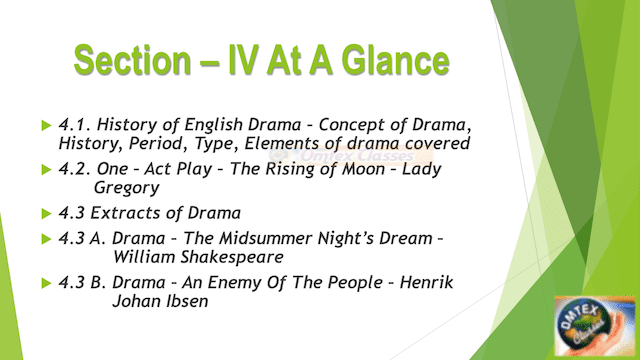 Section IV At A Glance