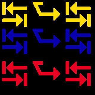 Blue-yeloww-red-arrow