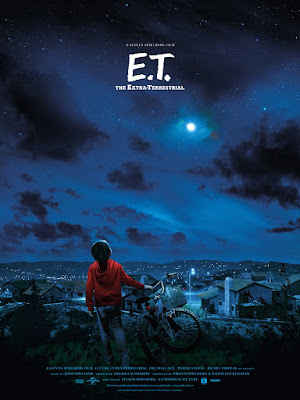 MondoCon 4 Exclusive E.T. Movie Poster Screen Print by Jim Titus x Mondo