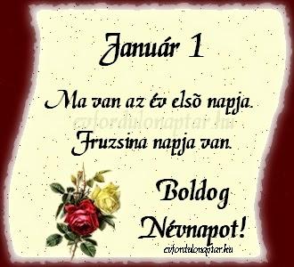 Fruzsina névnap, január 1