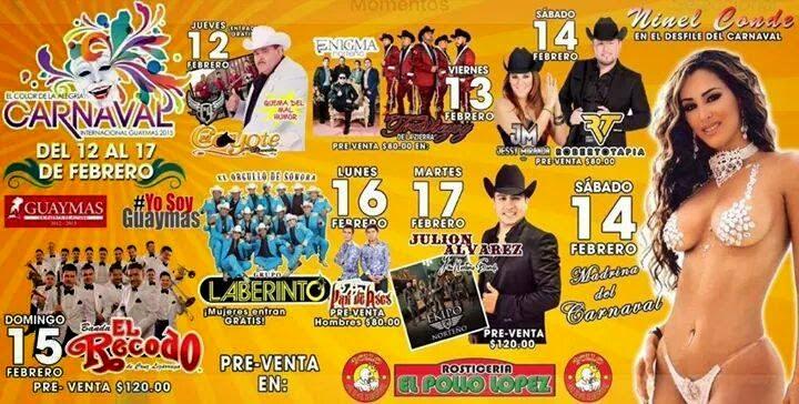 Carnaval Guaymas 2015 programa