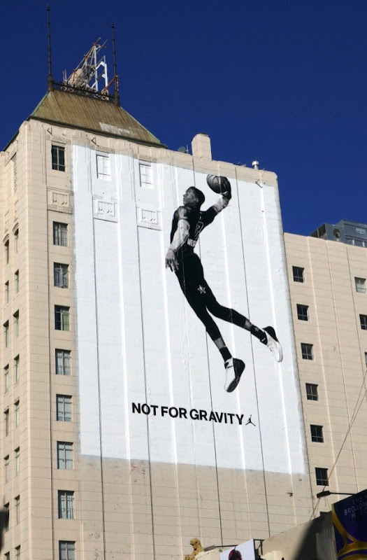 Giant Nike Air Jordan Not for gravity billboard