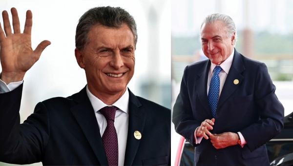 """Macri y Temer inician """"nueva agenda positiva"""""""