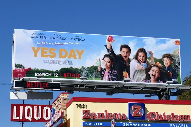 Yes Day movie billboard