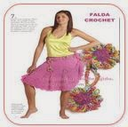 Falda Crochet Rosa