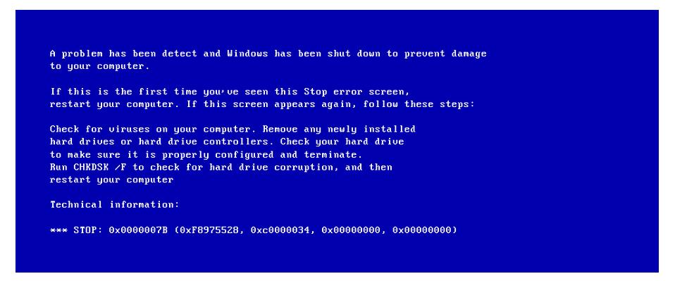 حل-مشكلة-الشاشة-الزرقاء-0x0000007B-Inaccessible-Boot-Device