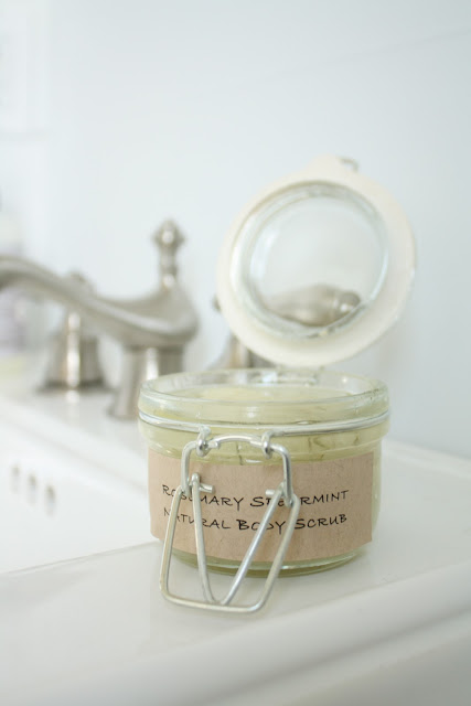 DIY Sugar Scrub made in your kitchen! Great gift idea via www.julieblanner.com