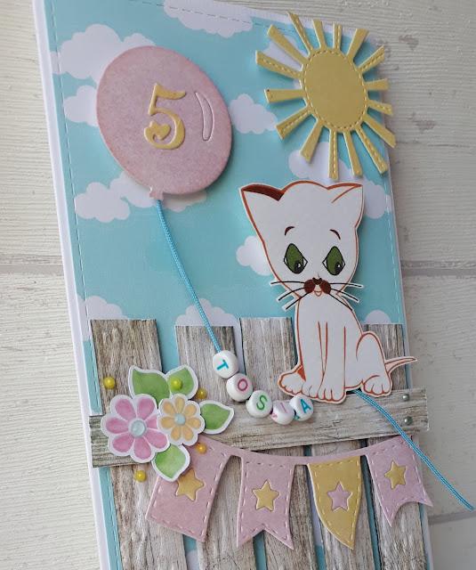 Urodzinowa kartka z kotem Filemonem
