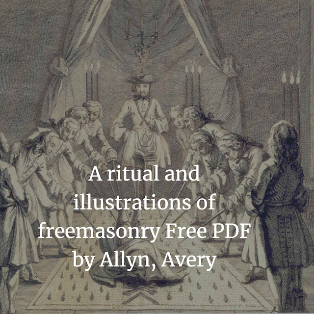 ritual and illustrations of freemasonry