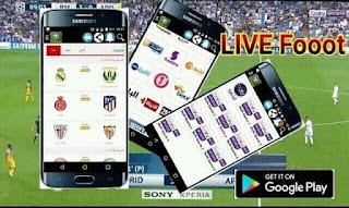 تحميل تطبيق LIVE Fooot لمشاهدة المباريات المباشرة و قنوات بين سبورت و القنوات العربية و العالمية