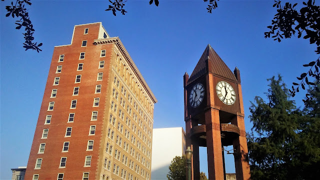 Hotel Icon with Clock Tower - Travis Street Downtown Historic District