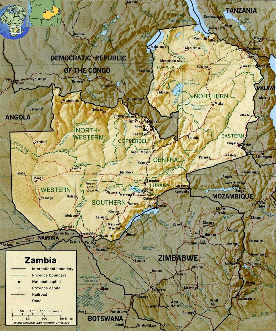ZÂMBIA - PAÍS DA ÁFRICA