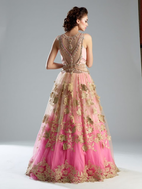 Pink Reception Cocktail Lehenga