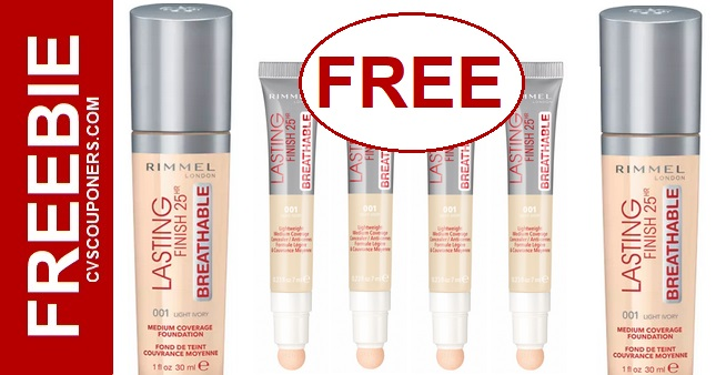 FREE Rimmel Foundation & Concealer CVS Deal 811-817