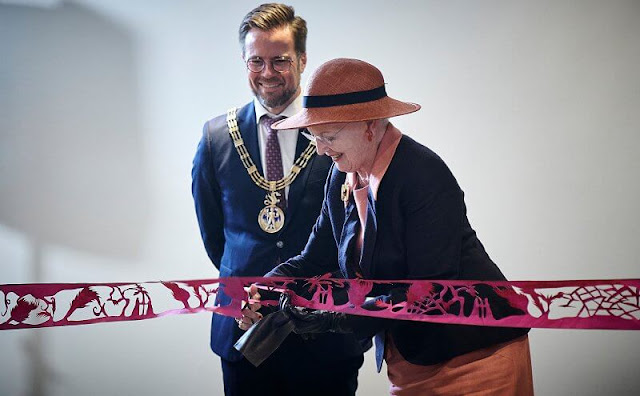 Queen Margrethe attended the opening of the new Hans Christian Andersen House in Odense