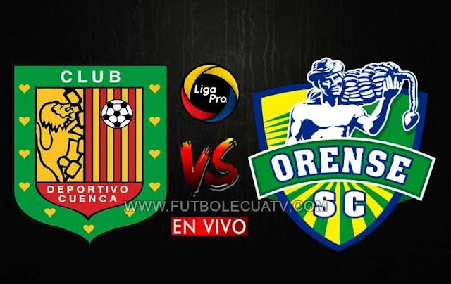 Deportivo Cuenca se mide ante Orense en vivo a partir de las 12h15 por el arranque de la fecha ocho del campeonato ecuatoriano, siendo emitido por GolTV Ecuador a efectuarse en el  estadio Alejandro Serrano Aguilar. Teniendo como juez principal a Gabriel González.