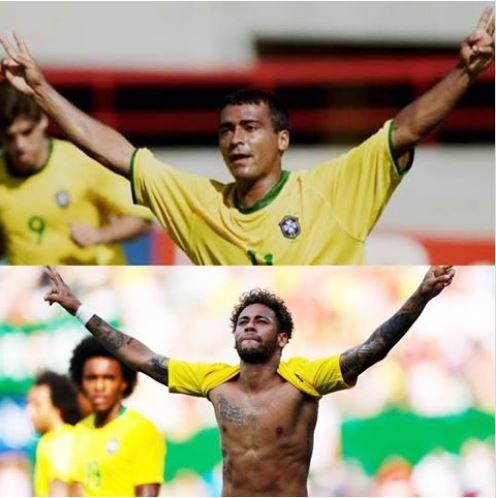 Neymar homenageia Romário e ex-jogador responde: 'Moleque bom'