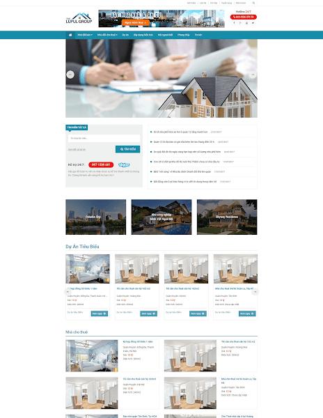 Theme blogger bất động sản dự án bán và cho thuê căn hộ