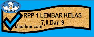 DOWNLOAD RPP 1 LEMBAR SMP LENGKAP EDISI REVISI 2020/2021
