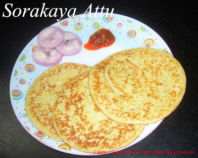 Pan Cakes with Bottle Gourd