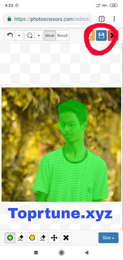 Photoscissors Background Remove Successful
