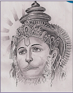 hanumanji drawing,hanuman drawing,drawing of hanuman,sketch of lord hanuaman
