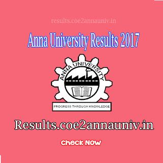 Aucoe, coe1, coe2, Anna University Nov/Dec 2017 and Jan 2018 Results