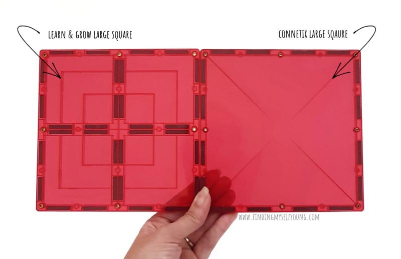 magnetic tile large square comparison