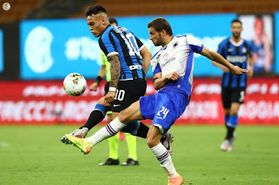 ملخص واهداف مباراة انتر ميلان وسامبدوريا (2-1) الدوري الايطالي