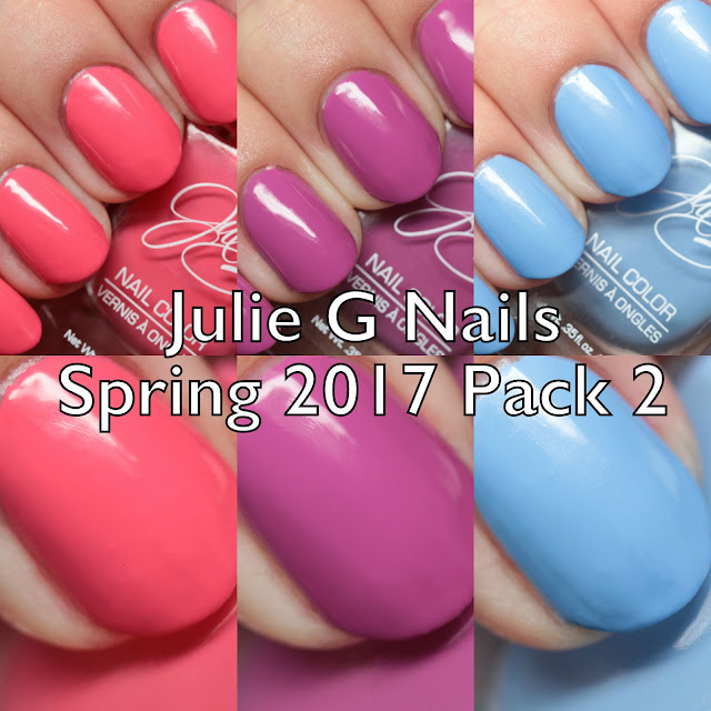 Julie G Nails Spring 2017 Pack 2