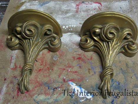 Wall Sconces {thrift store finds}