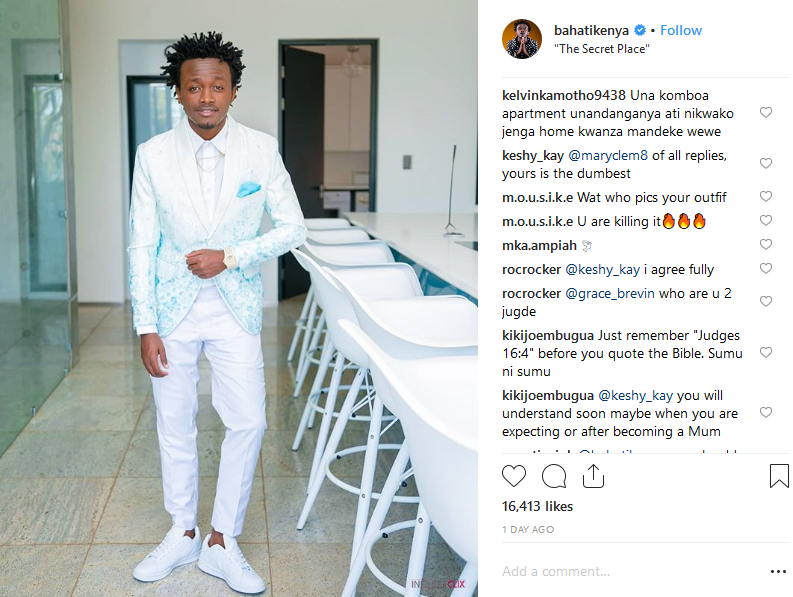 Angry Fan To Bahati: Makende Wewe! That House Is Rented, Not Yours!