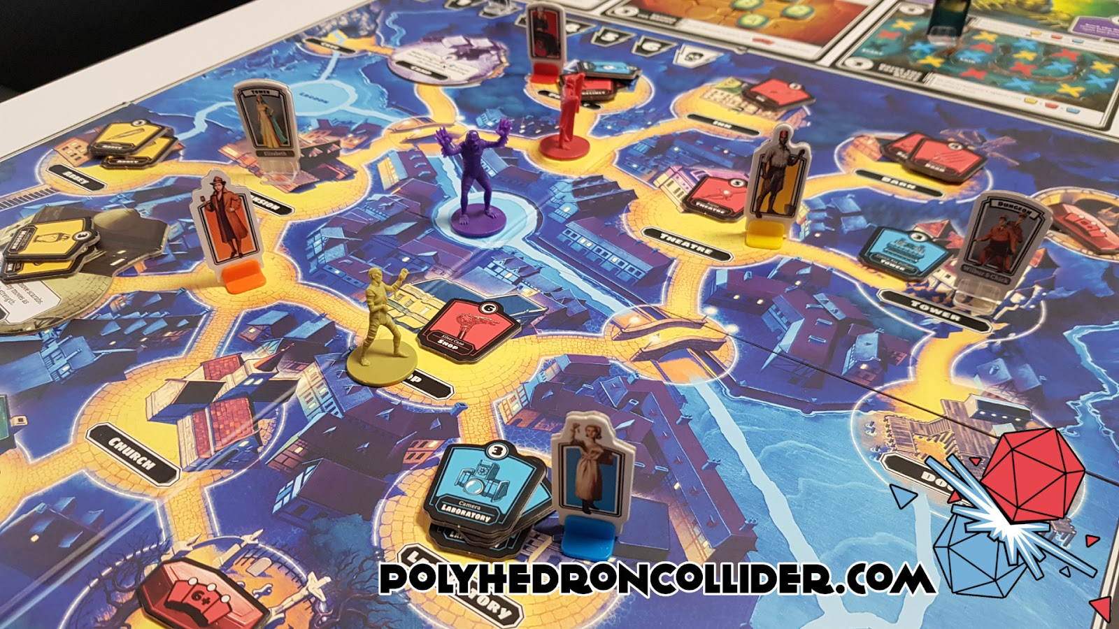 Polyhedron Collider Horrified Board Game Review - In Play