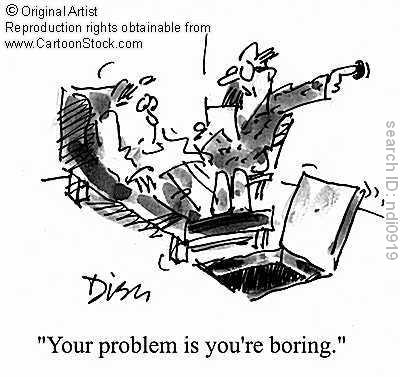 Related topics: boring, boring man, boring men, therapy