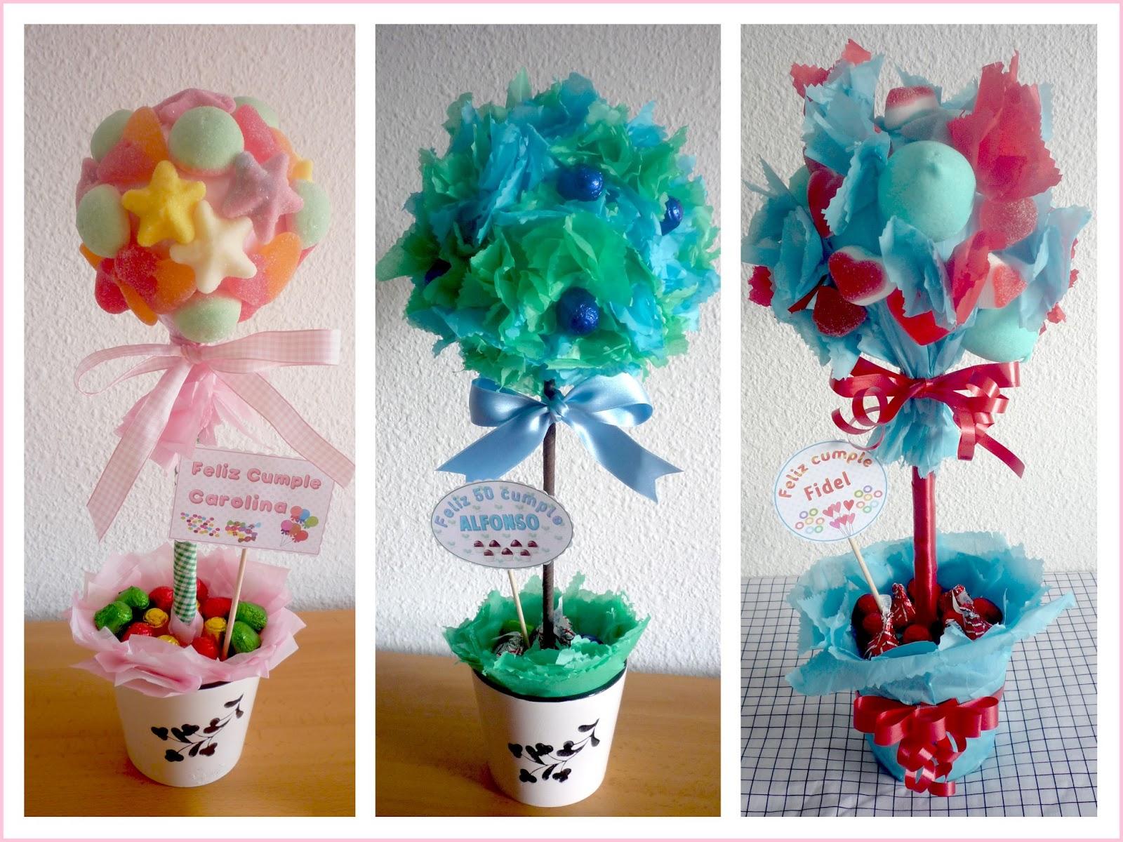 Baby nina fiestas topiarios o arboles de dulces chuches for Centros de mesa con chuches