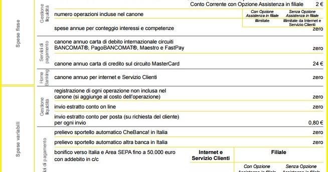 Conto Digital: Conto Corrente CheBanca a Canone Zero
