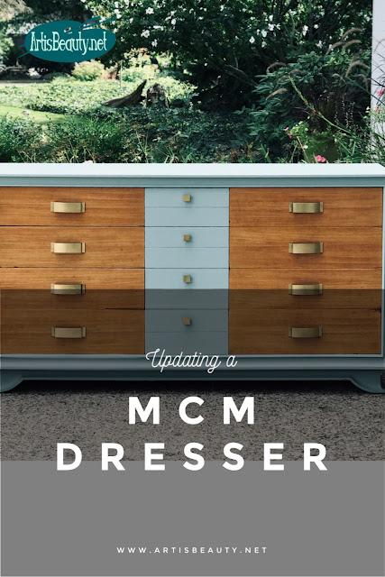 MCM persian blue dresser Modern update